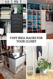 ikea closets 9 cool and easy diy ikea hacks for your closet shelterness