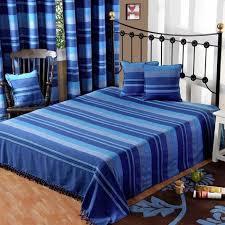 boutis canapé jeté de lit ou de canapé morocco rayures bleu 250 x 355 cm