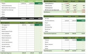 Monthly Spreadsheets Household Budgets by Monthly Household Budget Excel Templates For Every Purpose