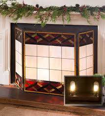 glenmore stained glass fireplace screen fireplace screens