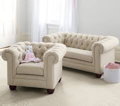 Sofas Chesterfield Chesterfield Mini Sofa Pottery Barn
