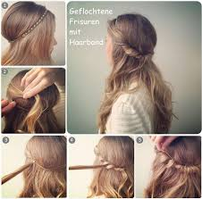 Dirndl Frisuren Lange Haare Anleitung by How To Do Beautiful Hair Styles With Hair Band Tutorial Frisuren