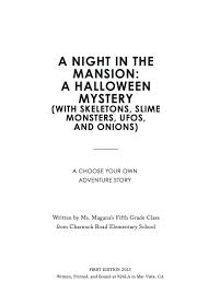 field trip book of the week a night in the mansion a halloween