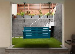 porch swing and exterior stairs contemporary patio san