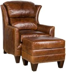Leather Wingback Chair With Ottoman Design Ideas Leather Wingback Us House And Home Real Estate Ideas