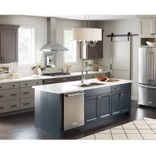 Two Tone Kitchen by Ideas Drum Chandelier And Two Tone Kitchen Cabinets With Amerock