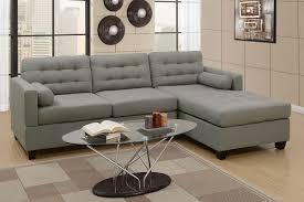 Miley Table L Grey Linen L Shape Sofa