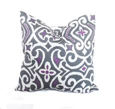 Throws And Pillows For Sofas by Purple Throw Pillows Purple Pillow Cover Grey Toss Pillow