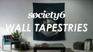 Tapestry On Bedroom Wall Wall Tapestries From Society6 Product Video Youtube
