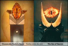 Lord Of The Rings Decor Cheesecake Factory Decor Totally Looks Like The Eye Of Sauron