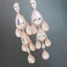 gold bridal earrings chandelier shop gold chandelier earrings on wanelo