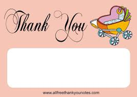 thank you notes for baby shower free baby shower thank you notes and cards