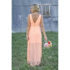 aliexpress com buy cheap peach lace chiffon bridesmaids dresses