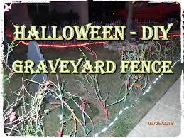 halloween diy graveyard fence youtube