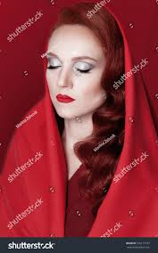 woman red wavy hair red lipstick stock photo 535172107 shutterstock