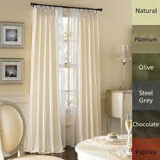 brielle dupioni pure silk lined pinch pleat curtain panel free