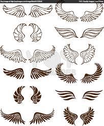 royalty free vector of wings wings