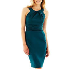jcpenney bridesmaid danny sleeveless satin dress jcpenney 45 peacock teal