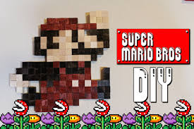 Super Mario Home Decor Super Mario Wall Art Diy Geeky Goodies Youtube