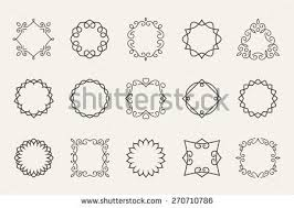decorative circle shapes free vector stock