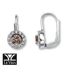 diamonds earrings jared levian chocolate diamonds 7 8 ct tw earrings 14k vanilla gold