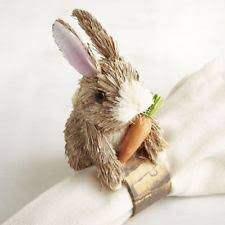 shabby chic rabbit ring holder images Bunny napkin rings ebay jpg
