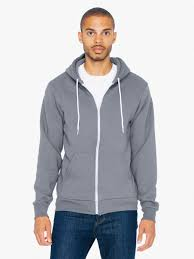 unisex flex fleece zip hoodie american apparel