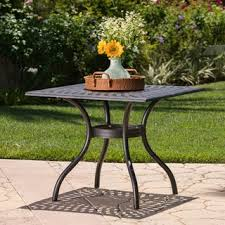 Patio Table With Umbrella Hole Iron Patio Table With Umbrella Hole Free Shipping Today