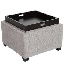 ottoman with storage and tray innovative storage ottoman with tray christopher knight home andrea