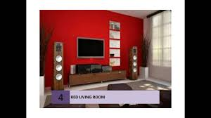 best red living rooms interior design ideas youtube