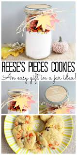 reese s pieces cookies gift in a jar the country chic cottage