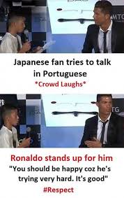 Japanese Memes - dopl3r com memes japanese fan tries to talk in portuguese crowd