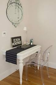table attached to wall diy turn your old table into a cool wall mounted console