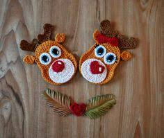 Reindeer Christmas Decoration Pattern by Christmas Appliques Christmas Applique Crochet Christmas And