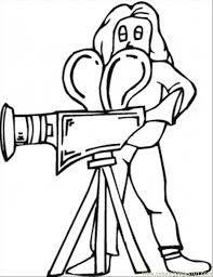 lady making movie coloring free movies coloring pages
