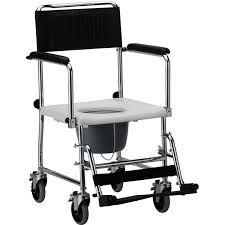 nova ortho med drop arm commode transport chair with wheels