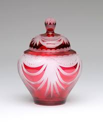 urn ashes angel wings ruby lead glass urn