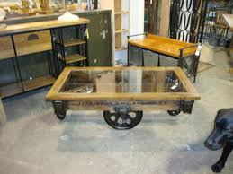 Industrial Cart Coffee Table Black Dog Salvage Architectural Antiques U0026 Custom Designs
