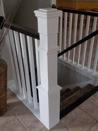 Painting A Banister Black It Was Installed Around The Existing Post I Built The Front And