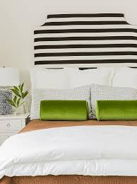 Black And Green Bedding Black And White Striped Headboard With Green Velvet Bolster