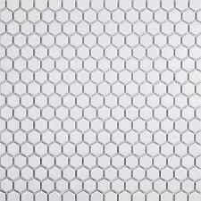 white hexagon matte popular ceramic tile flooring of white