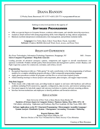 Sample Resume For Computer Programmer by Common Computer Programs For Resume Free Resume Example And