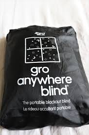 Portable Blackout Blinds Review The Gro Company Gro Anywhere Blackout Blind A Crafty
