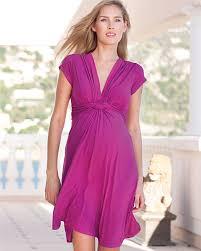 seraphine jolene knot front maternity dress fuschia chosen by