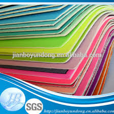 best fabric for sheets best selling anti slip foam rubber sheet adhesive backed fabric