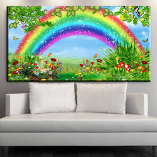 compare prices on bedroom rainbow paintings online shopping buy