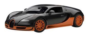 bugatti veyron buy autoart 1 18 bugatti veyron super sport carbon black orange