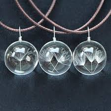 real crystal necklace images Make a wish real dandelion crystal ball necklace the hodge poshery jpg