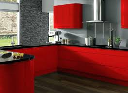 Black Kitchen Cabinet Paint Red And Black Kitchen Cabinets On Regarding Best Ideas 3 Gloss