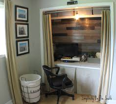 Closet Chairs Smartly Closet Turned Office Creative Design And Ideas